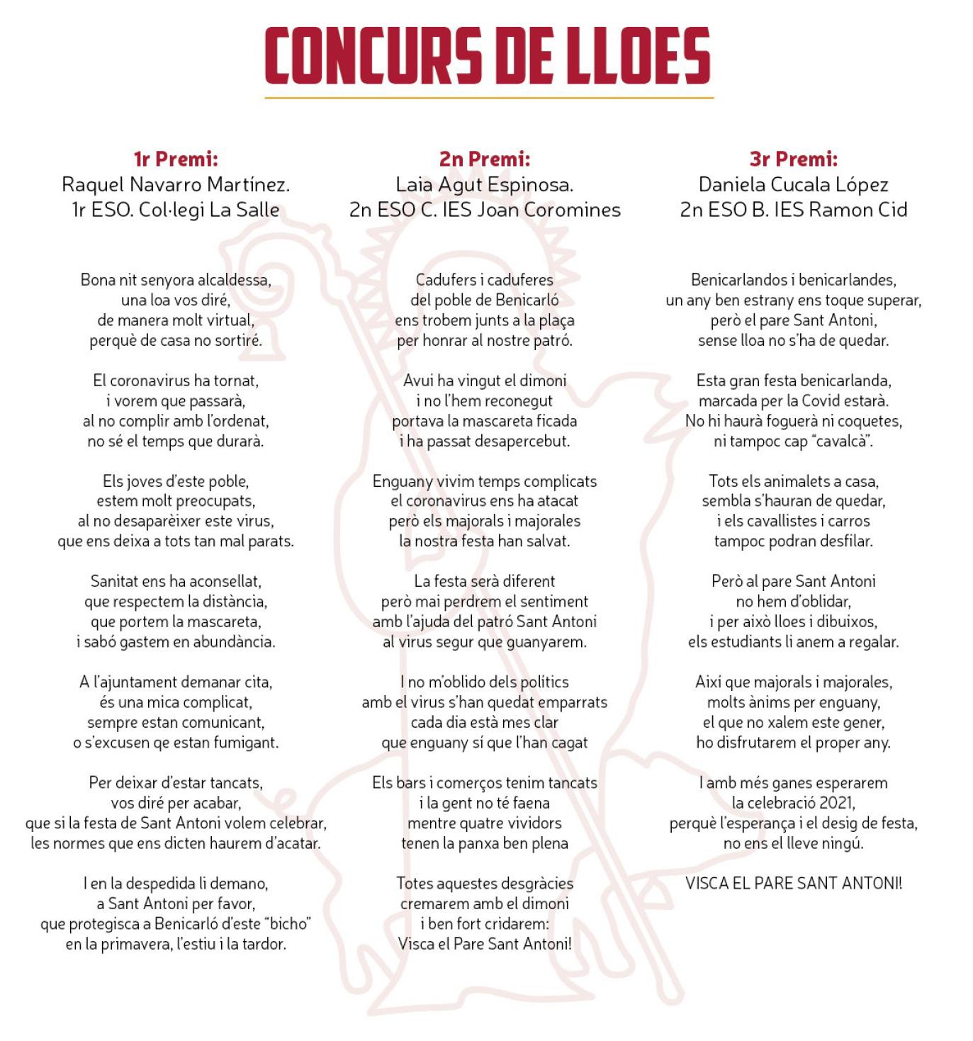 Concurs lloes 2021-Sant Antoni Benicarló
